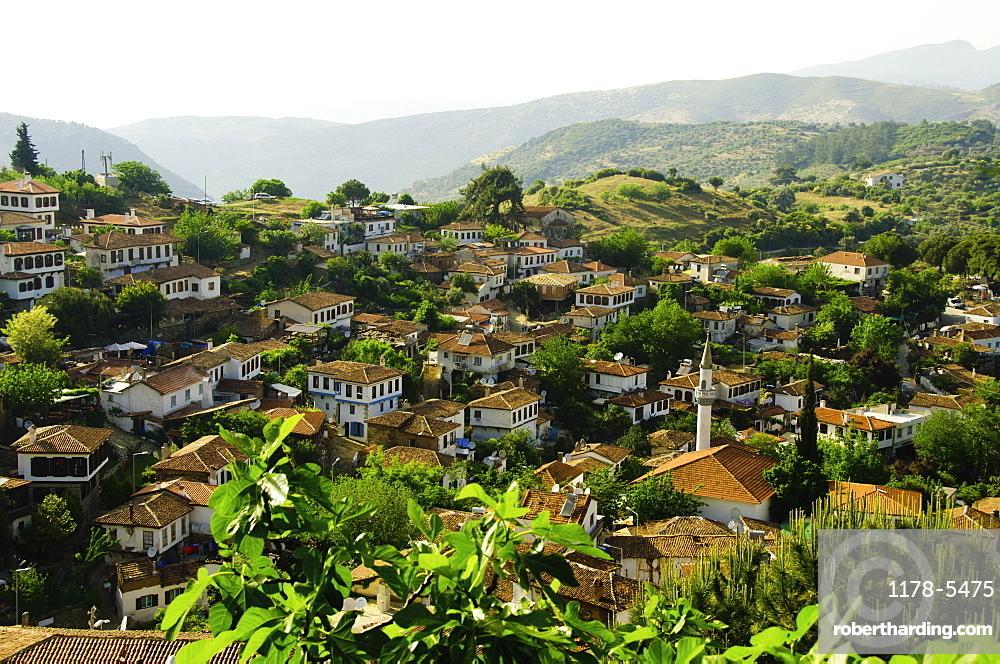 Turkey, Sirince, elevated view of village