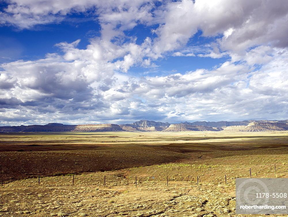 USA, Utah, Clouds over desert landscape