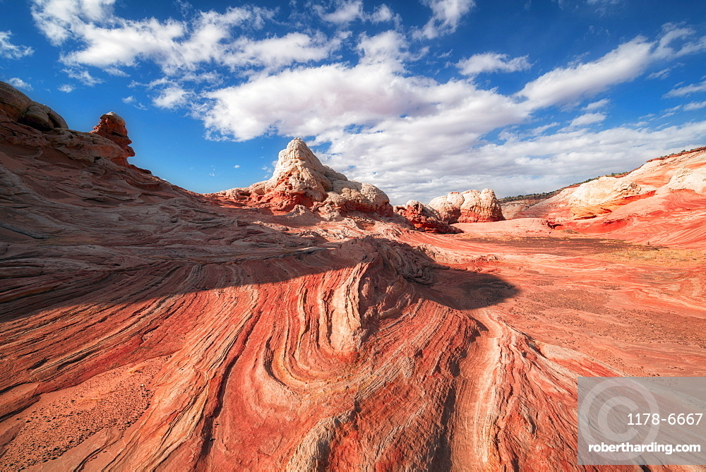 View of rock formations, White Pocket, Arizona