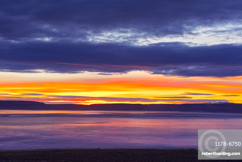 View to Alvord Desert at sunrise, USA, Oregon