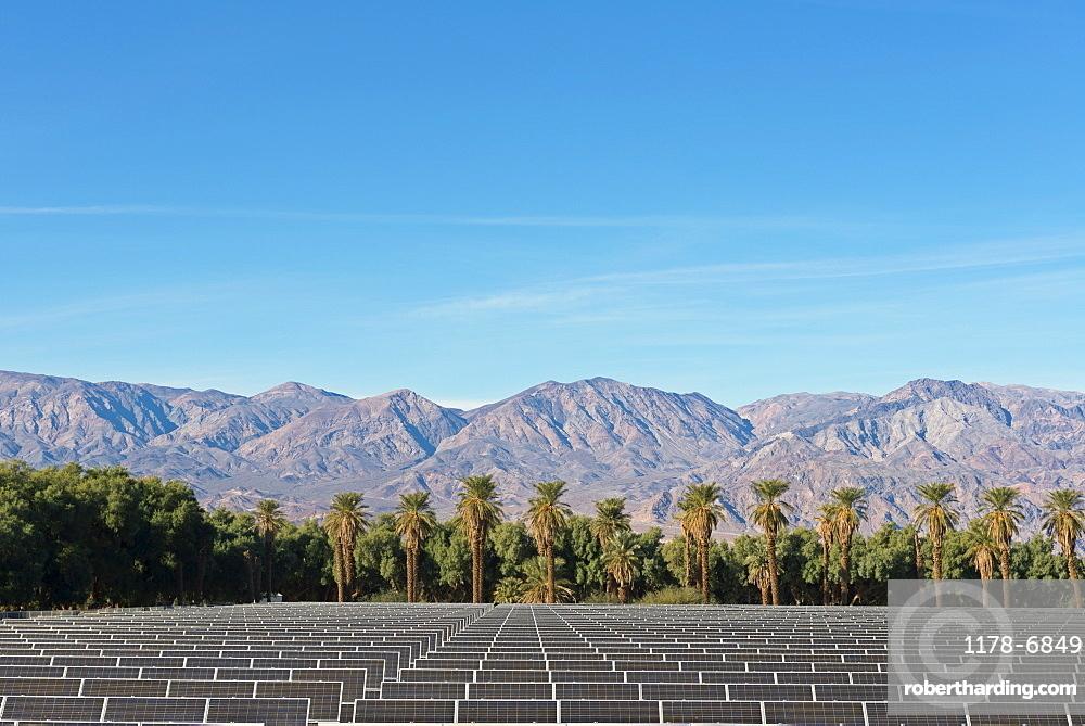 Solar Farm at Death Valley, USA, California, Death Valley