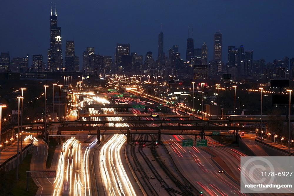 Light trail, Chicago, Illinois