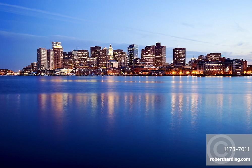 Boston, Massachusets at sunset