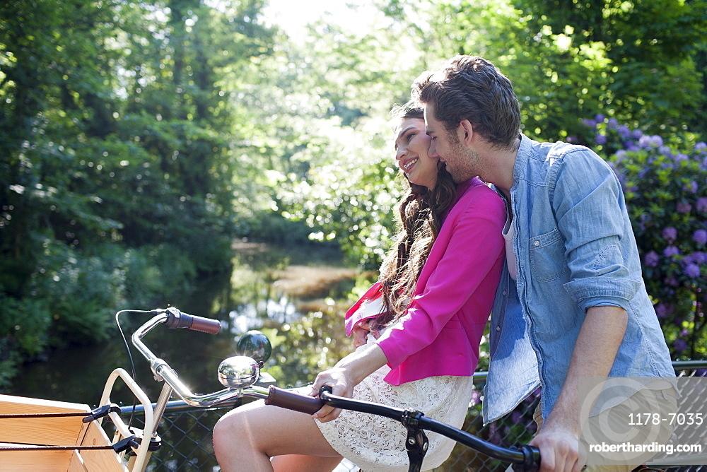 Couple on bikes, Netherlands, Oisterwijk