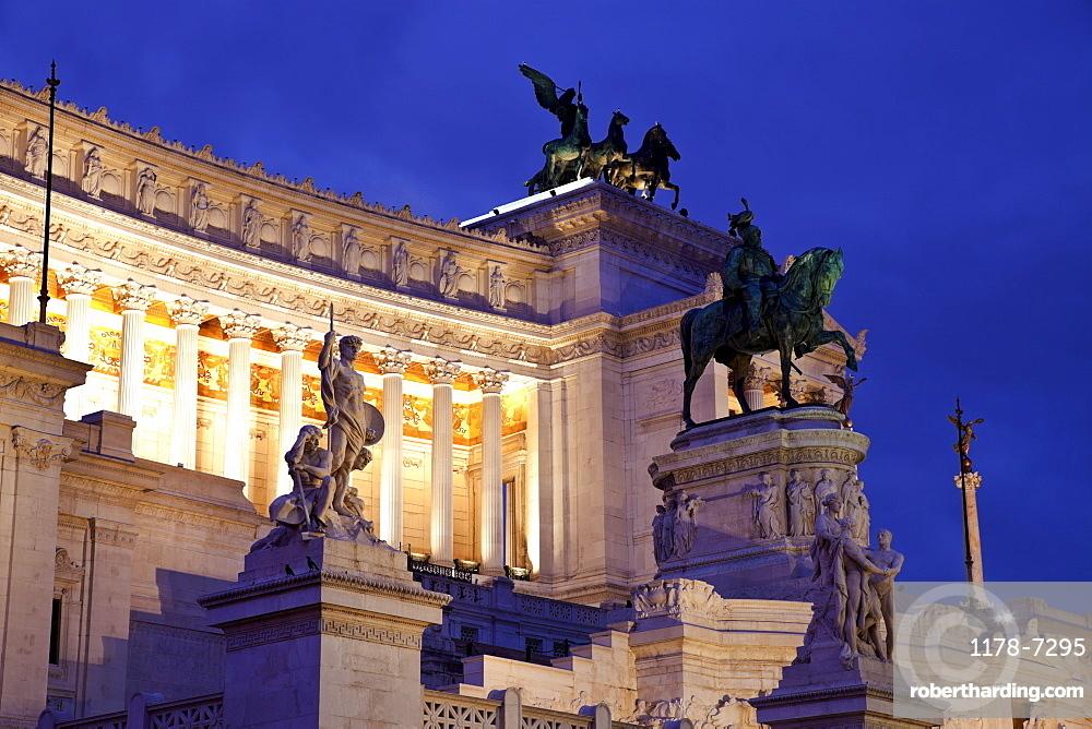 Victor Emmanuel II monument at dusk