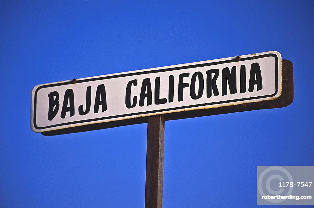 Mexico, Baja California sign