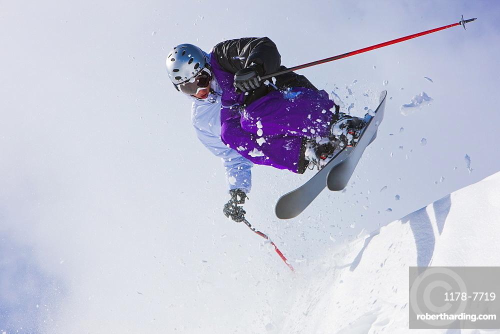 USA, Colorado, Telluride, Downhill skiing