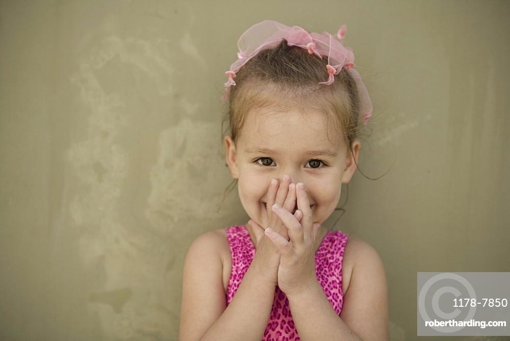 Portrait of playful girl (2-3)