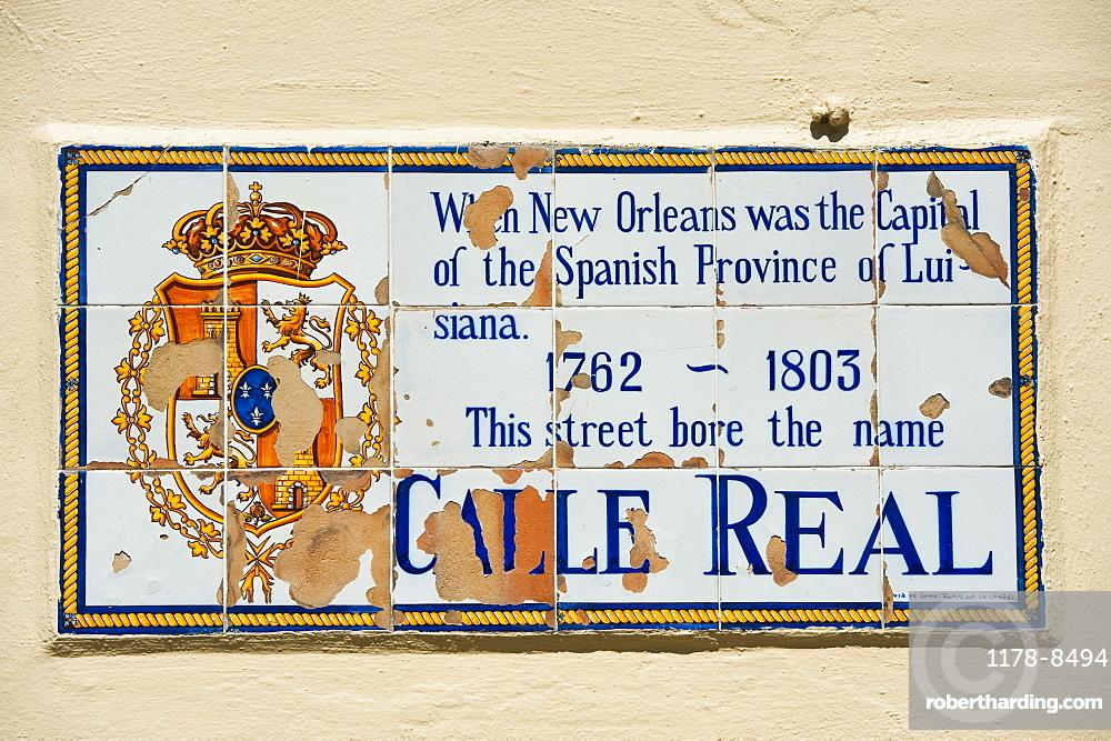 Spanish tile street sign