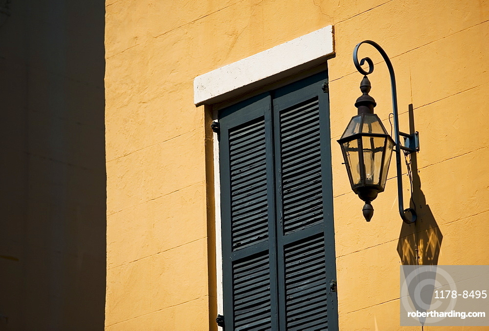 Lantern on exterior of building