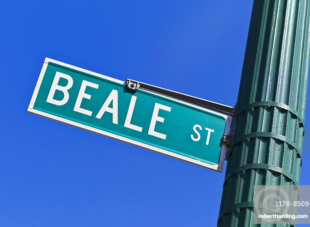 Beale Street sign and post