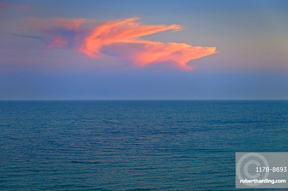 Ocean and clouds