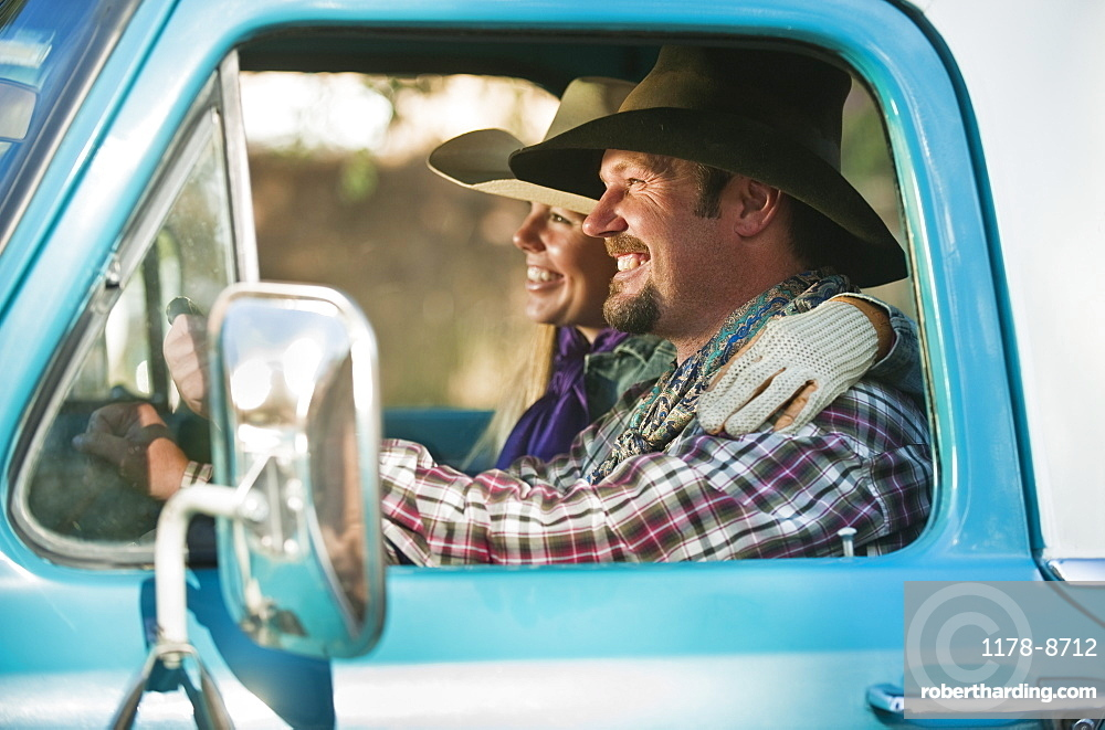 Couple in truck