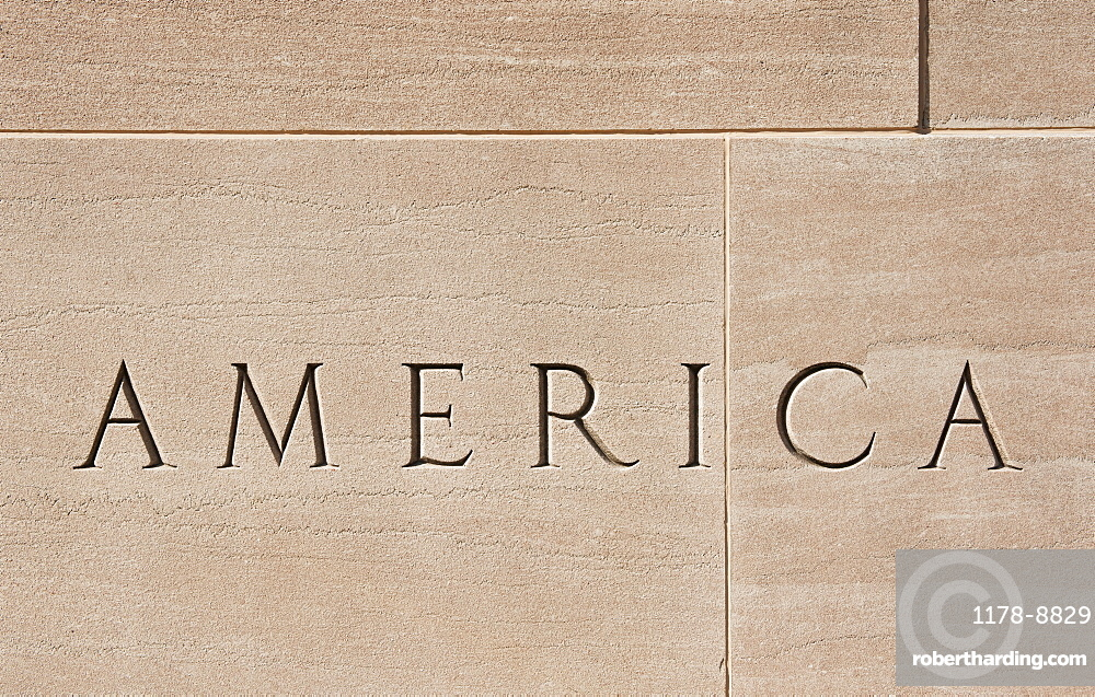 Wall of American building