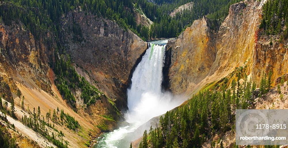 Scenic mountain waterfalls