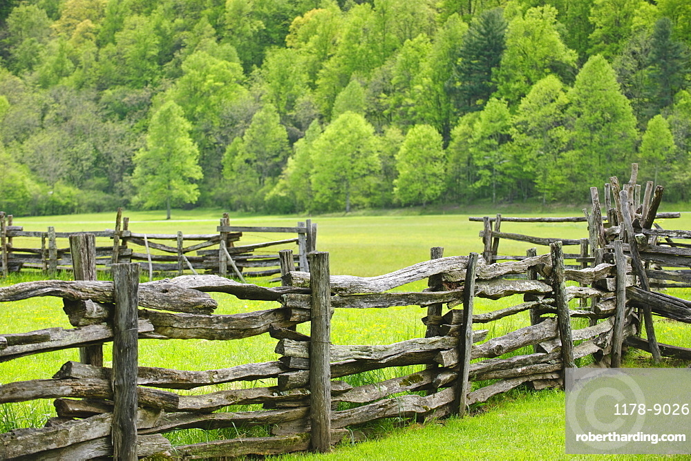A fence in Smoky Mountain National Park