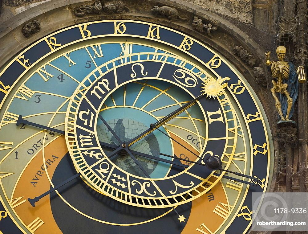 Close up of astrological clock