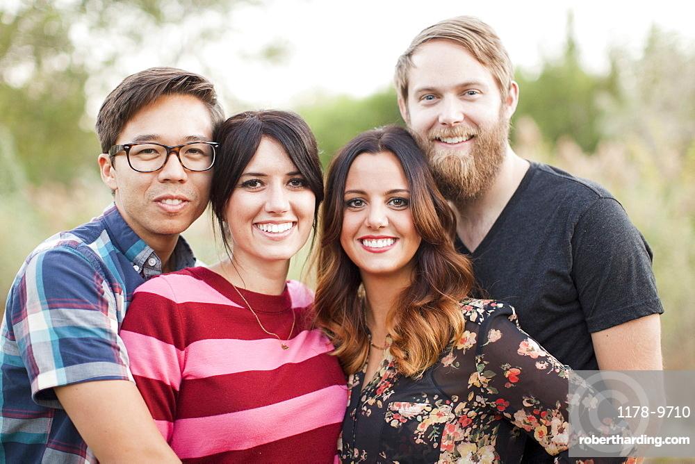 Portrait of group of friends, Salt Lake City, Utah