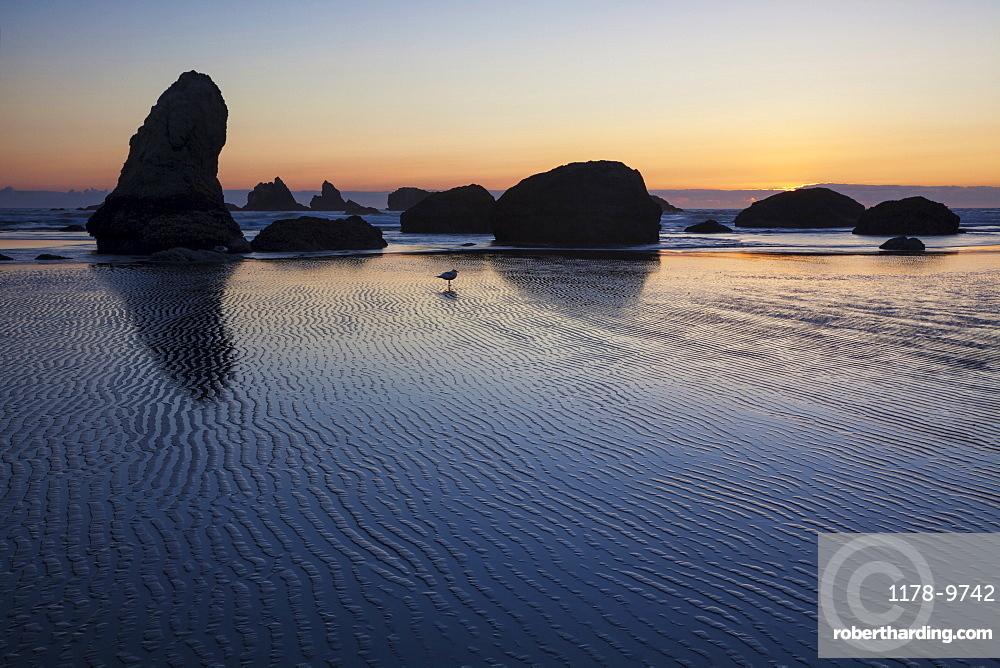Sunset at Bandon Beach, OR