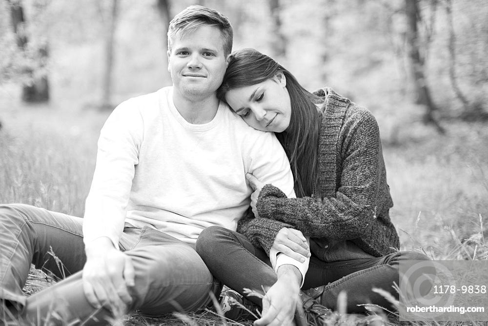 Young couple togetherness, USA, Utah, Salt Lake
