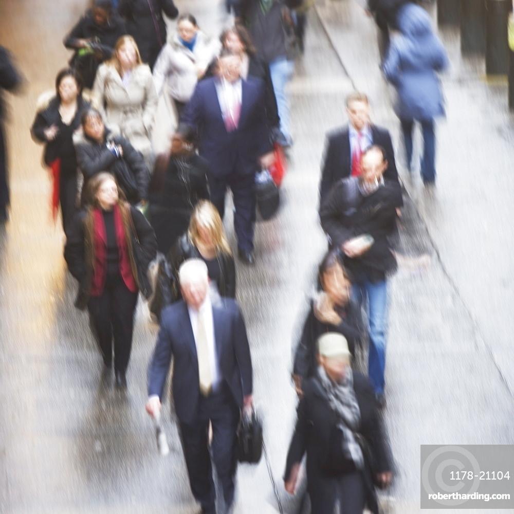 USA, New York state, New York city, pedestrians walking