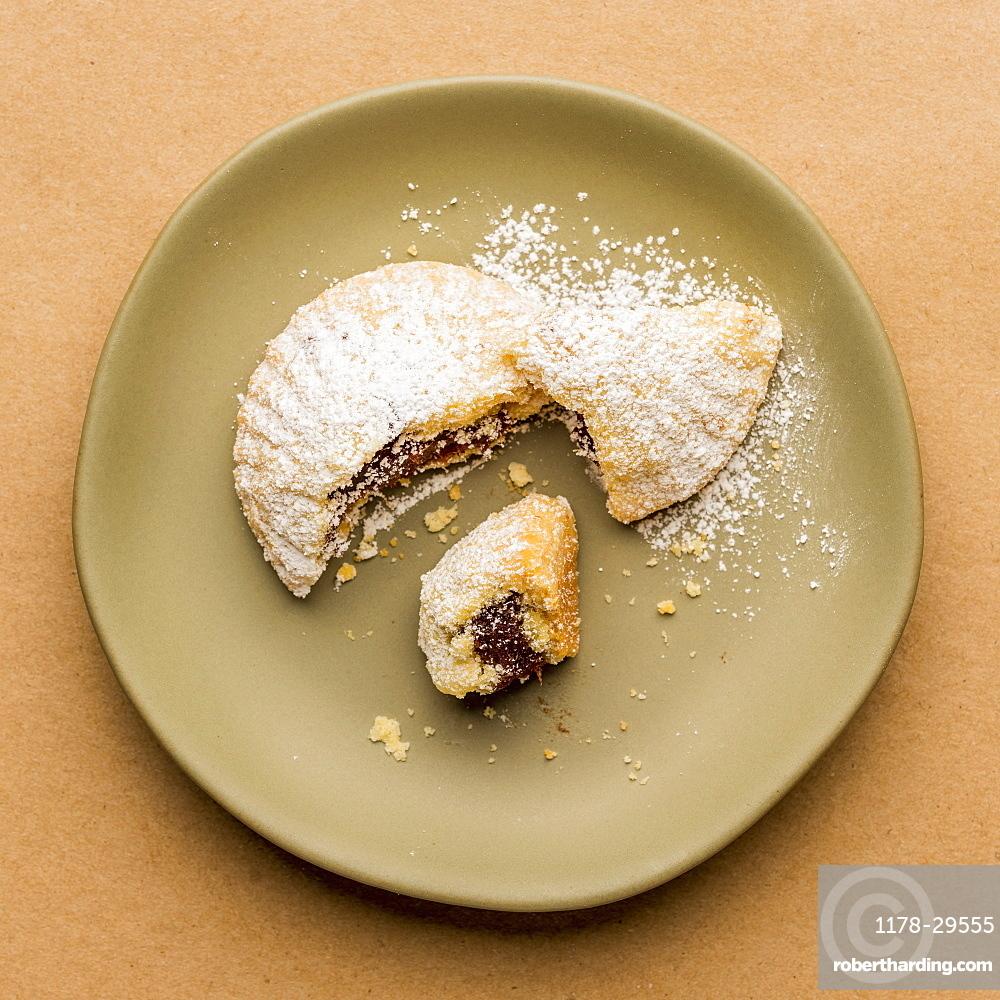 Greek Fig cookie on plate