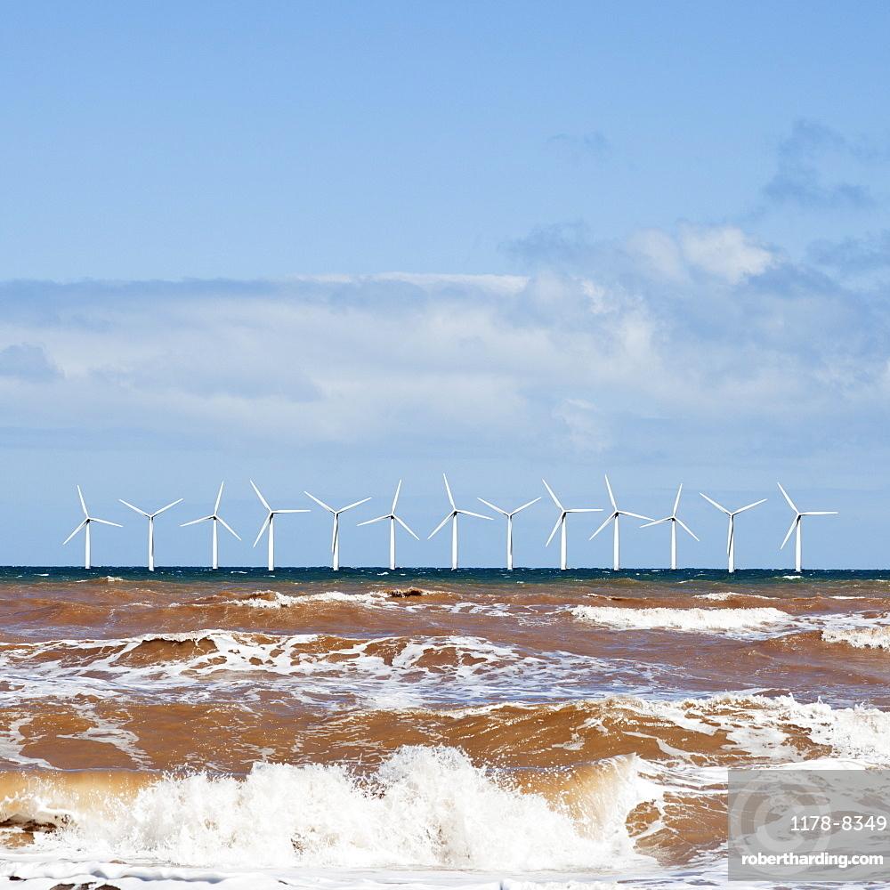 Wind turbines at sea