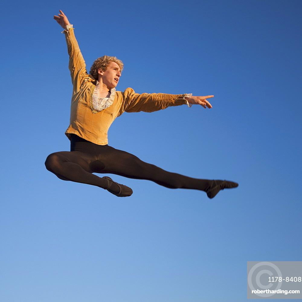Ballet dancer jumping