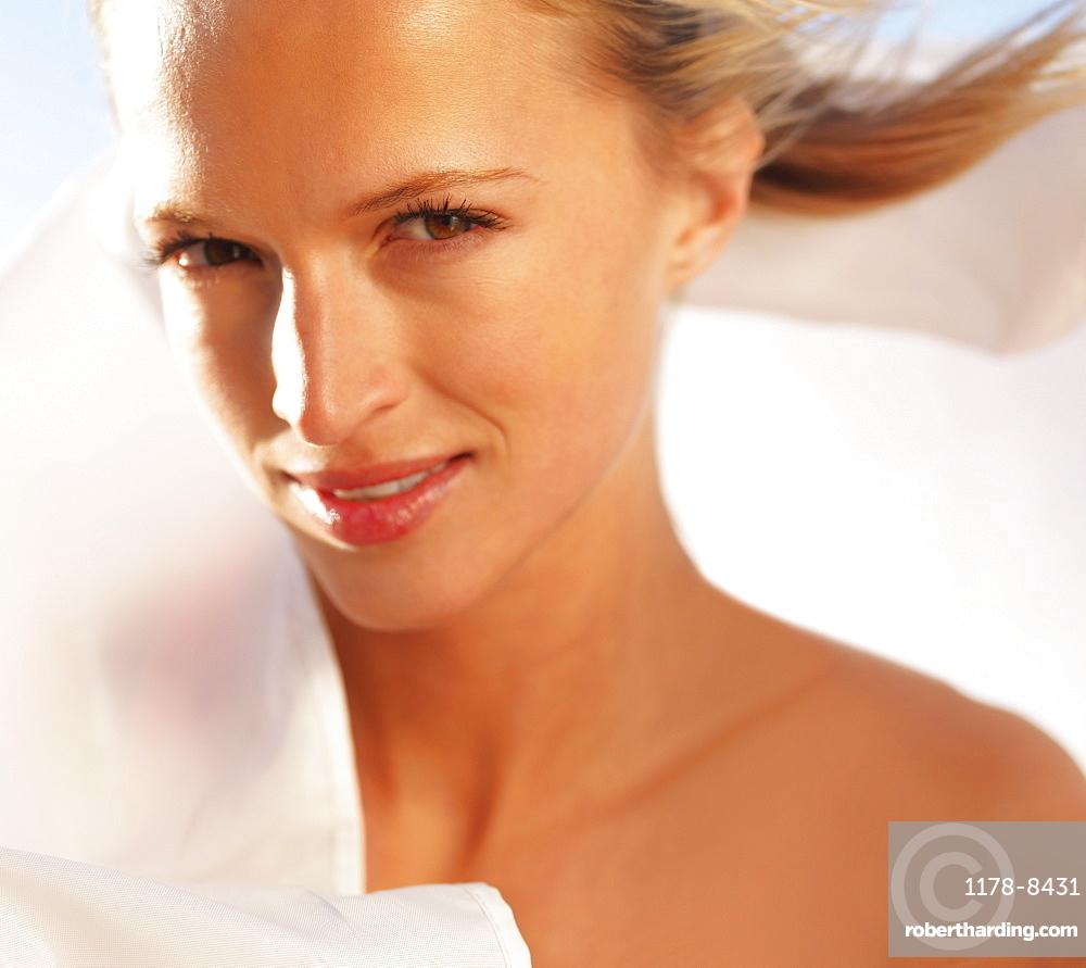 Sensual blond woman