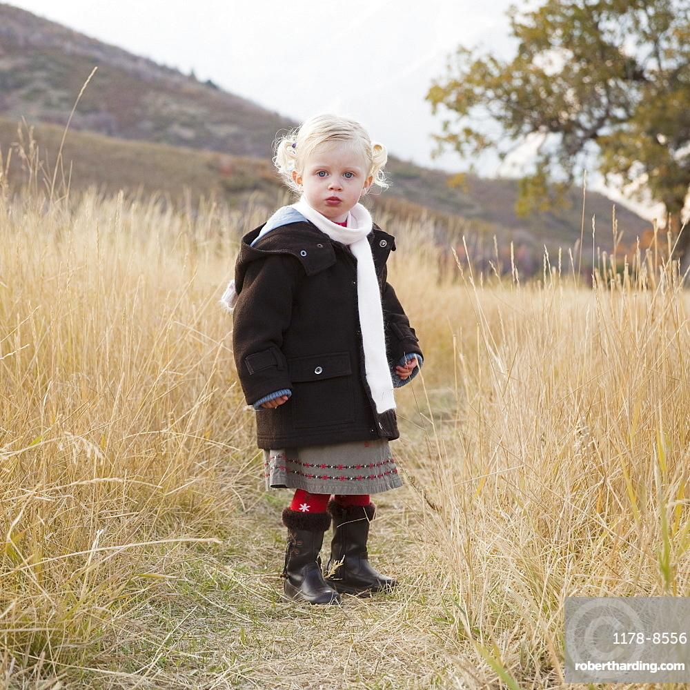 Portrait of a girl in a meadow