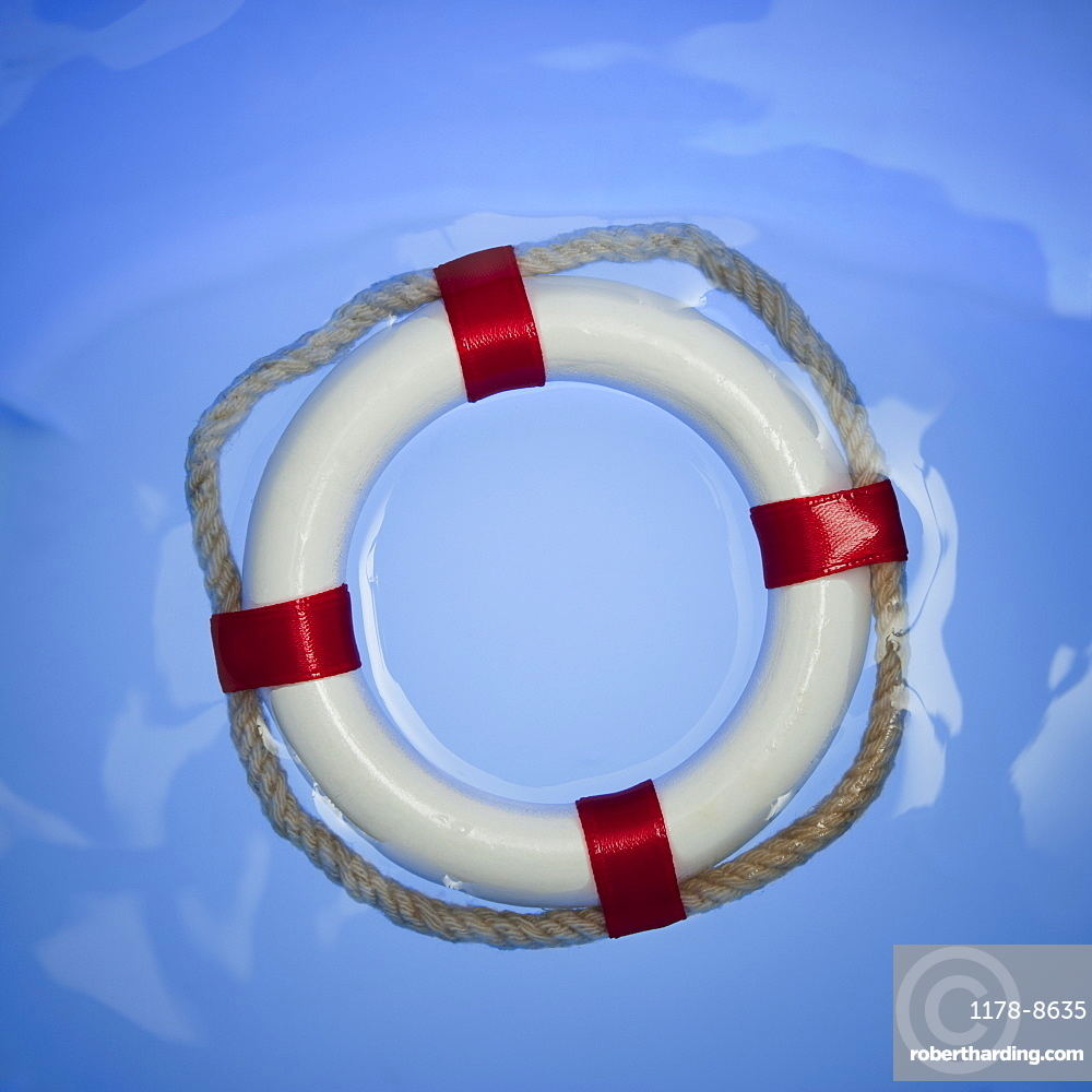 Ring buoy in water