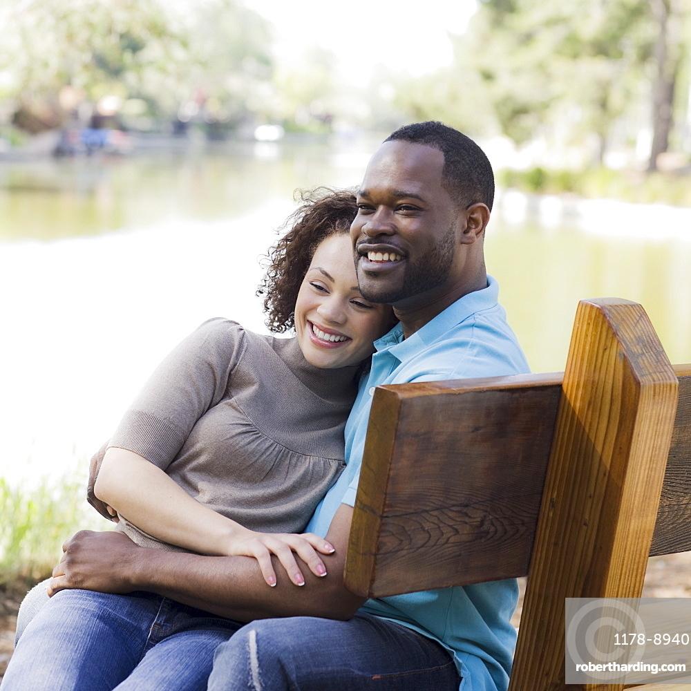 A couple at a park