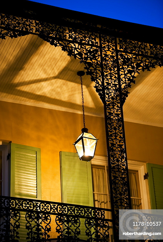 Balcony in French Quarter of New Orleans