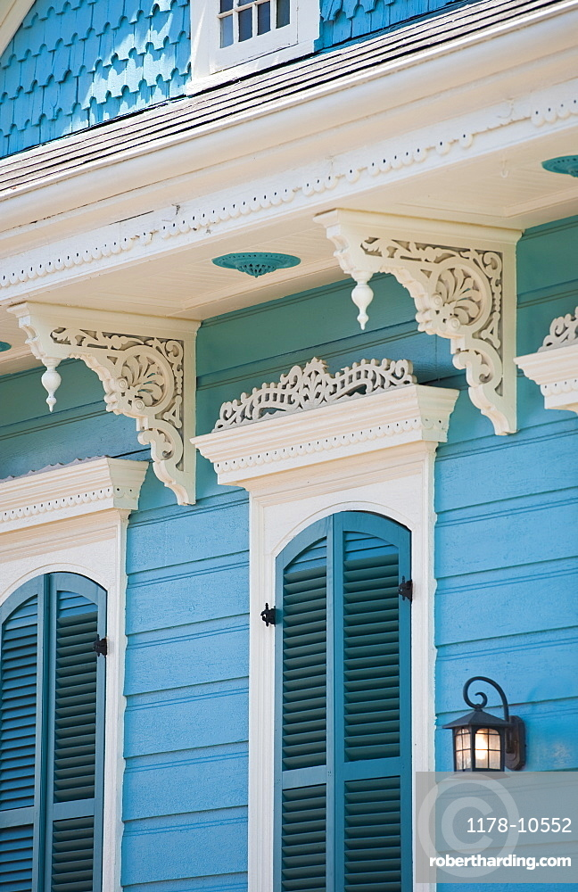 Exterior of blue house in New Orleans