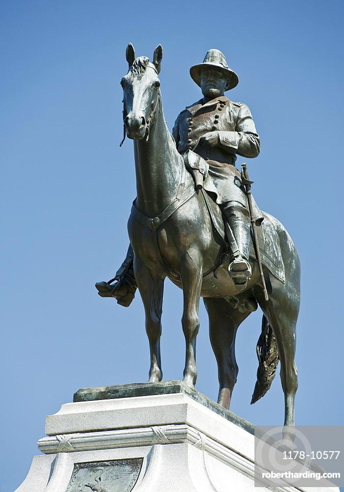 Statue of General Sherman at Vicksburg Military Park