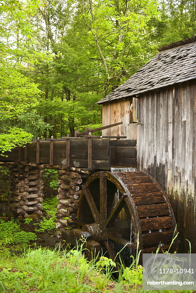A watermill in Smoky Mountain National Park