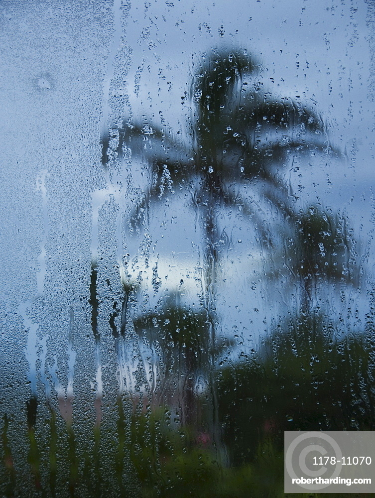 Tropical storm in Bermuda from window