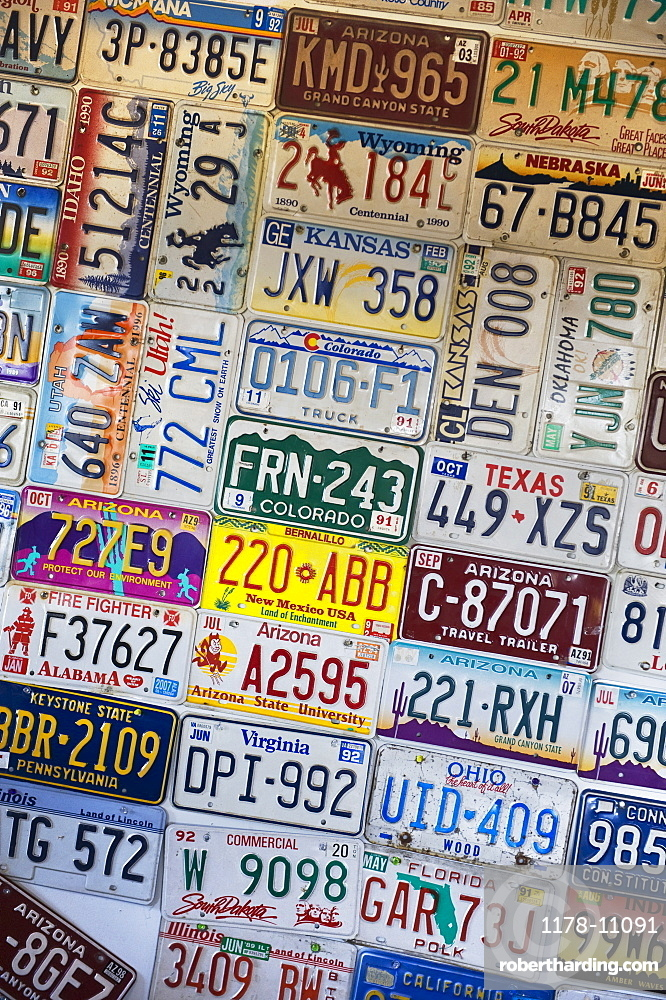 Collection of license plates