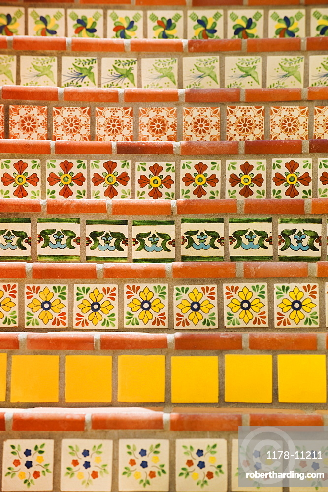 Close up of decorative tile