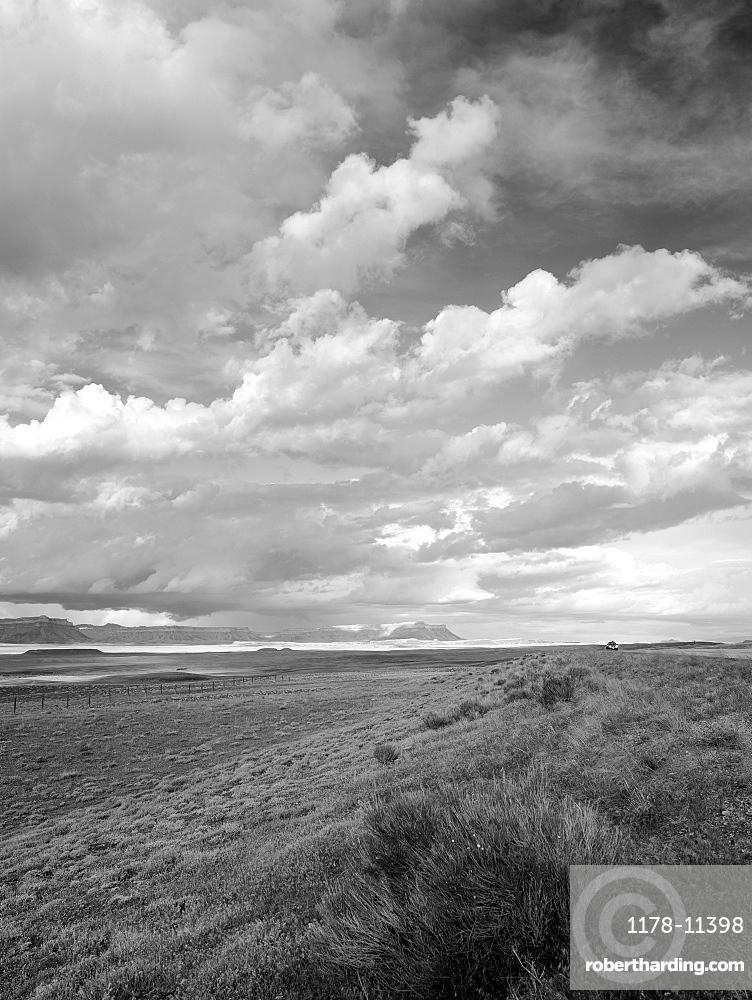 USA, Utah, Clouds over landscape