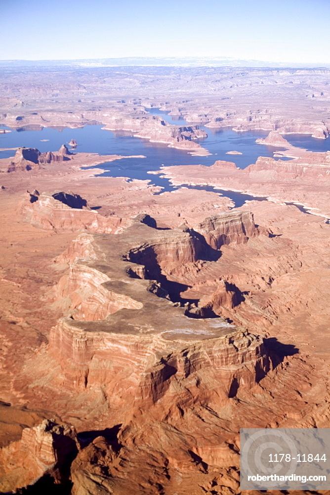 High angle view of Arizona desert