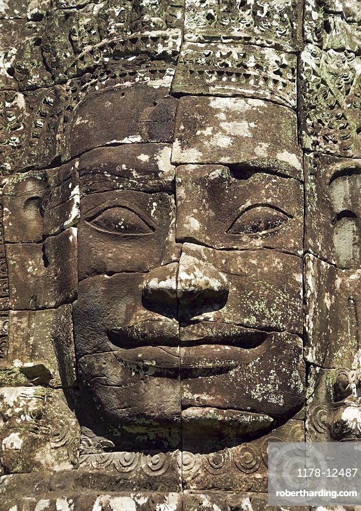 Detail at ancient Temple Angkor Thom Angkor Wat Bayon Cambodia
