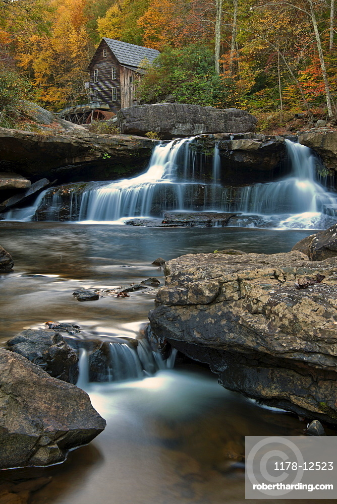 Old Mill in Babcock State Park in West Virginia