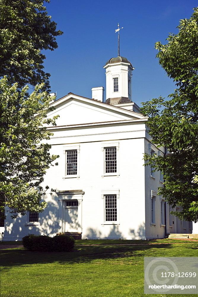 USA, Illinois, Vandalia, Vandalia State House - capital of Illinois 1836-1839