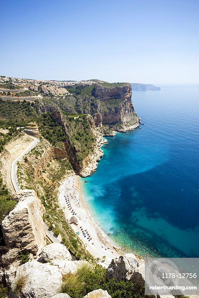 Spain, Costa Blanca, Landscape with cliffs