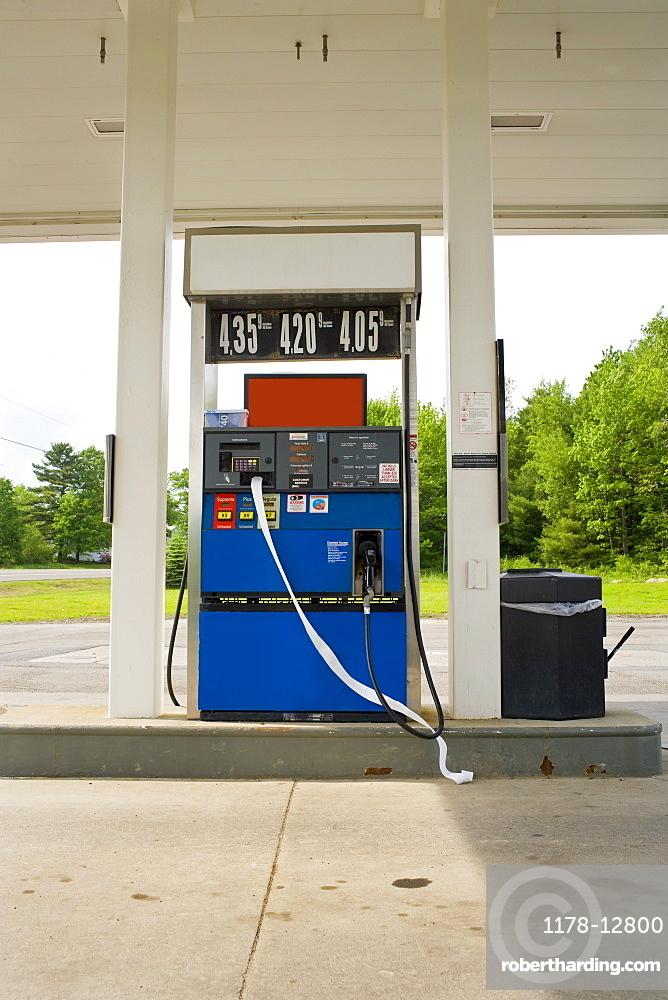 USA, California, Fuel pump