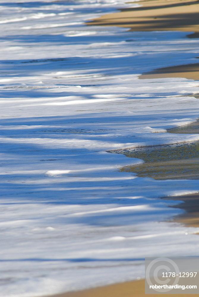 Tide on Caribbean beach