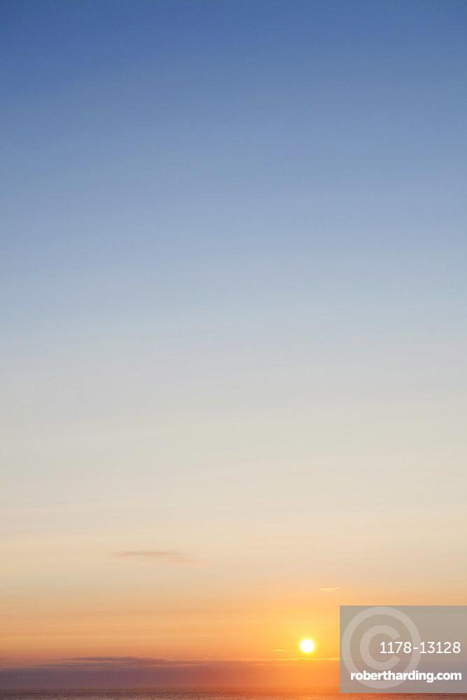 Setting sun, Winchester Bay, OR