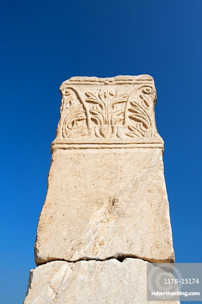 Turkey, Ephesus, Column