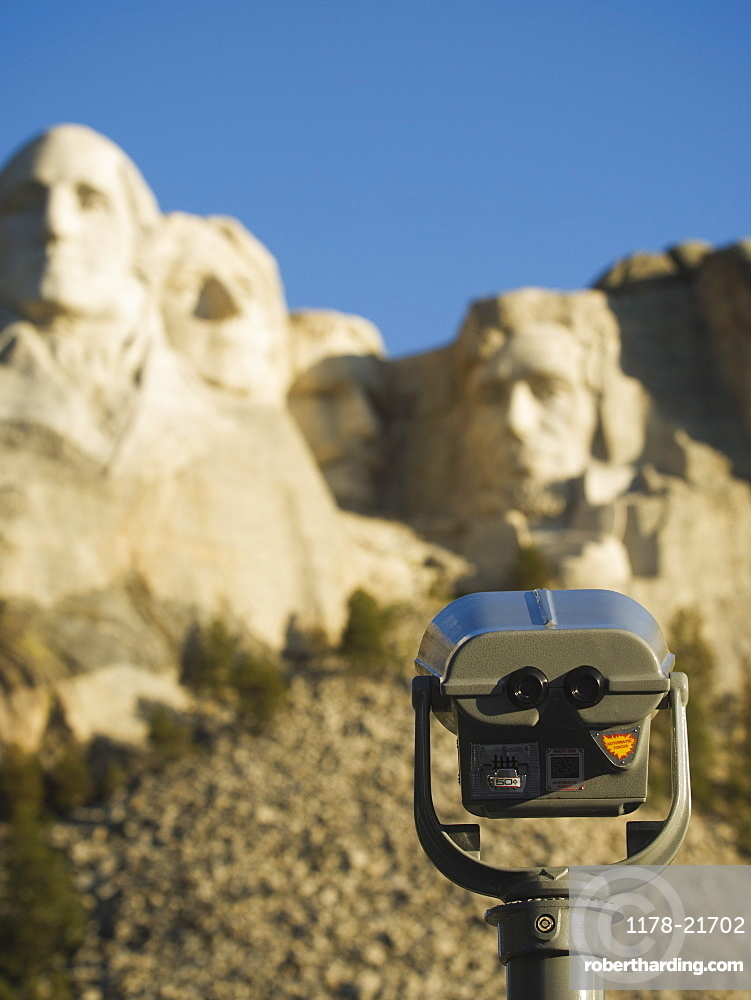 Coin operated binoculars at Mount Rushmore